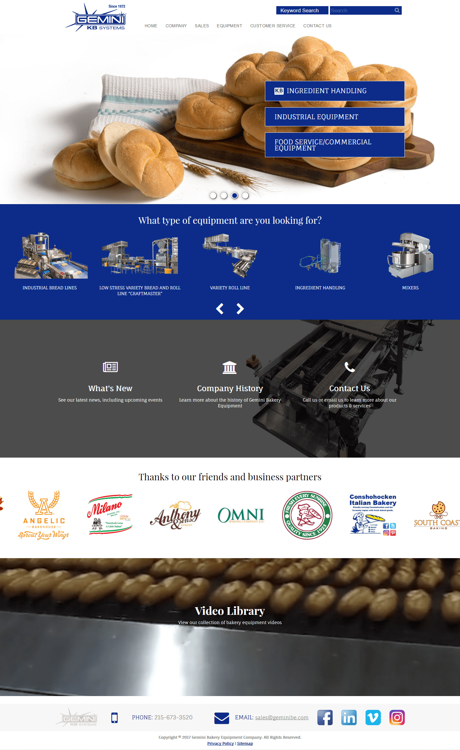 Gemini Bakery Equipment
