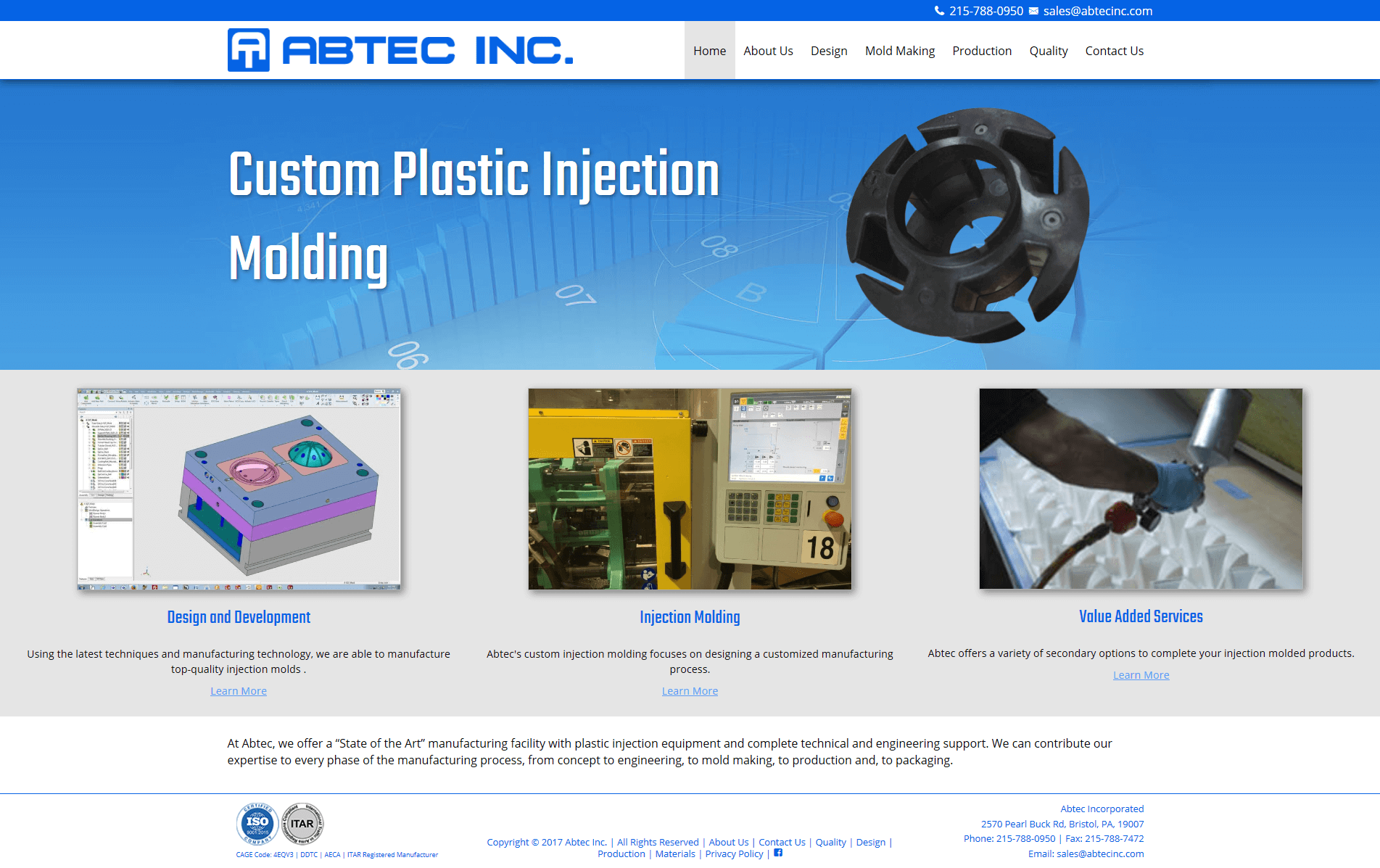 Abtec Inc Website Screenshot