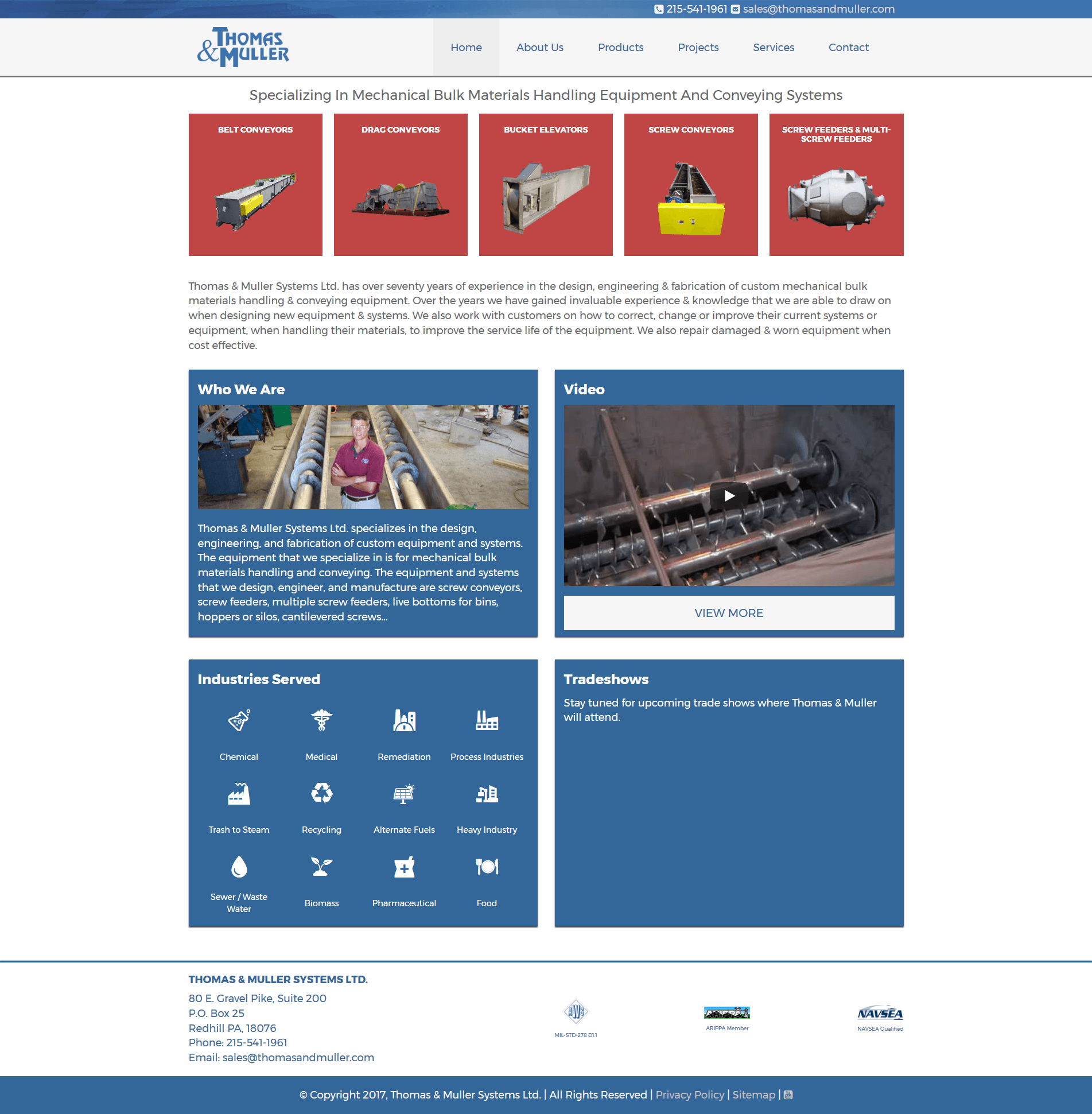 Thomas & Muller Systems Website Screenshot