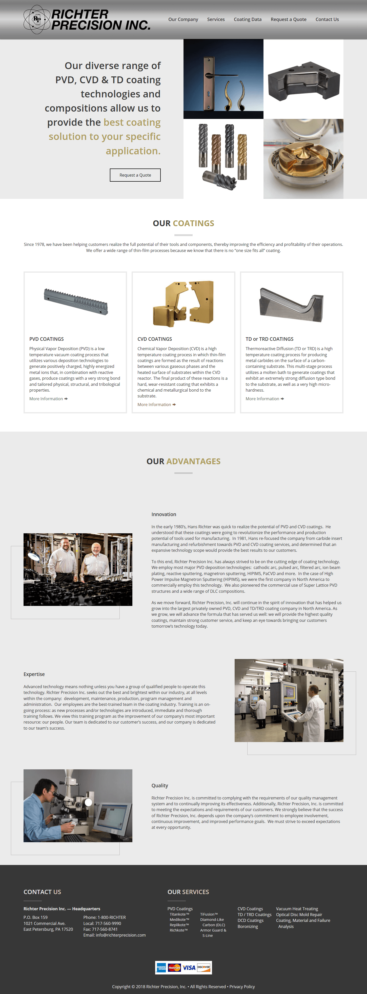 Richter Precision - Website by B2B Design & Development