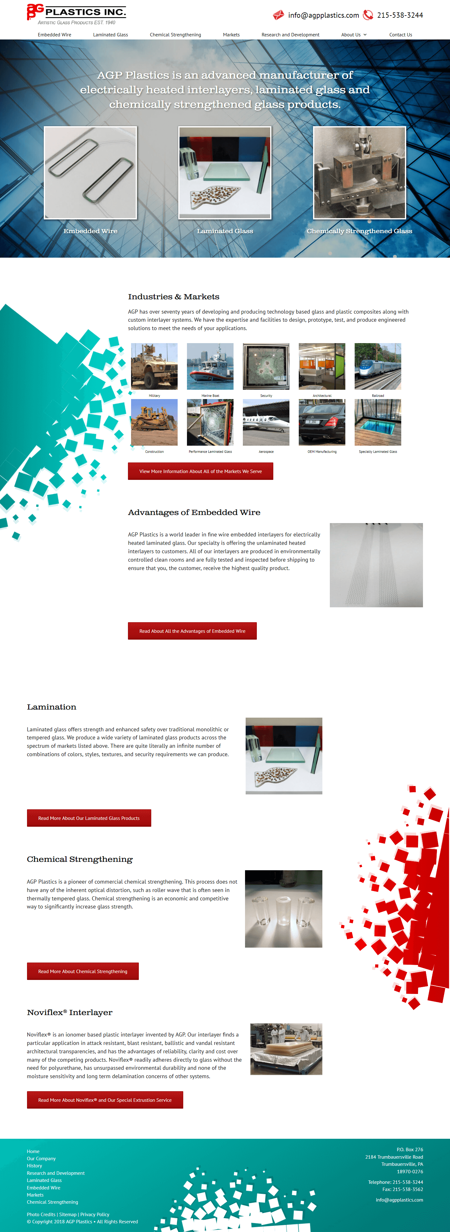AGP Plastics - Website by B2B Design & Development