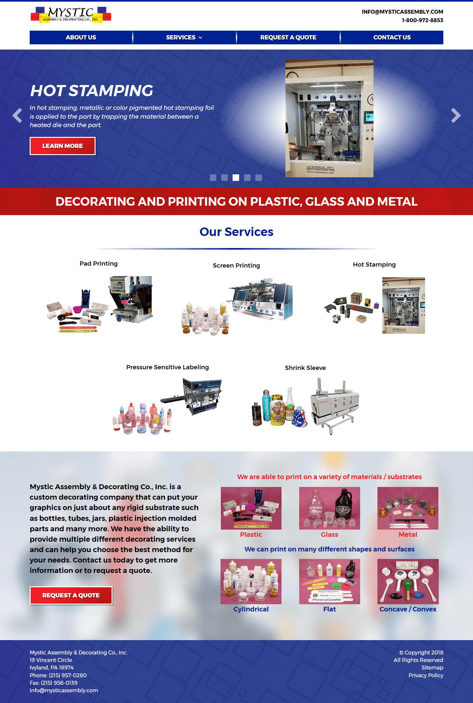 Mystic Assembly website by B2B Design & Development
