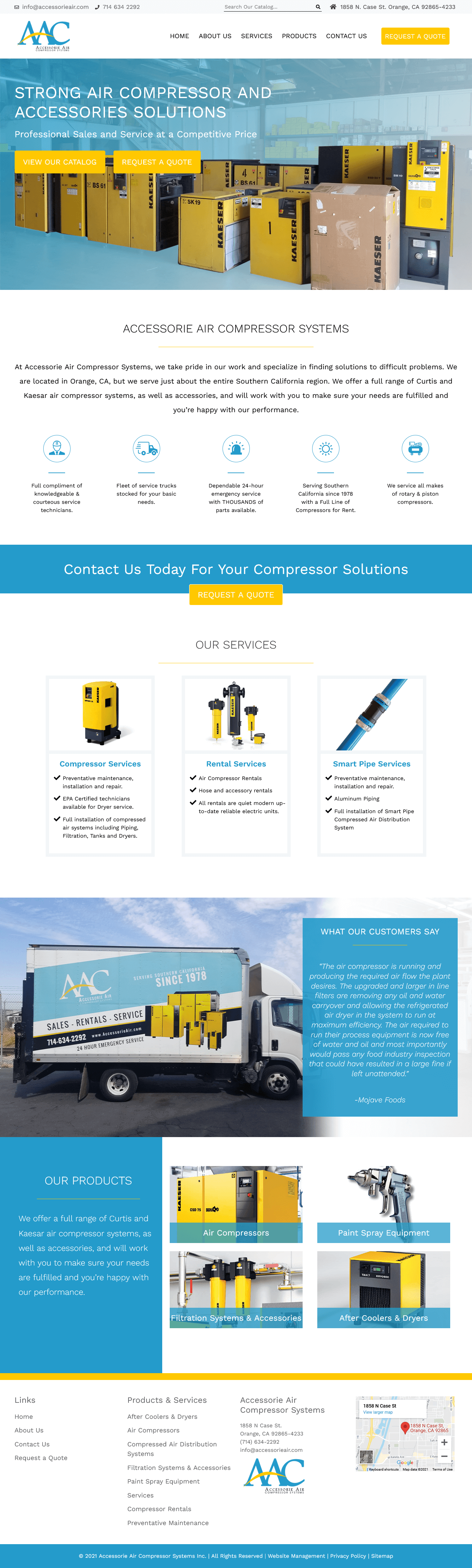 Accessorie Air Compressor Systems Website